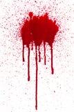 Bloed splat en druppel stock foto's