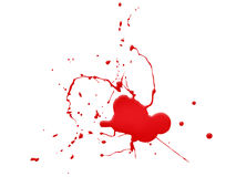 Bloed splat op witte achtergrond Stock Foto