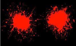 Bloed splats Royalty-vrije Stock Afbeeldingen