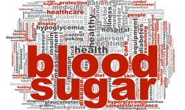 Bloed Sugar Word Cloud Stock Foto's