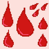 bloeddalingen voor het ontwerp van computer en mobiele spelen Royalty-vrije Stock Afbeeldingen