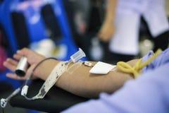 Bloeddonatie aan het Nationale Congres stock foto