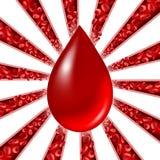 Bloeddonatiesymbool royalty-vrije illustratie