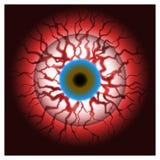 Bloeddoorlopen oog bloedige oogappel Stock Afbeeldingen