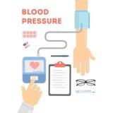 Bloeddruk het controleren Stock Afbeeldingen