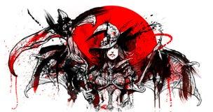 Bloedheks met zeis stock illustratie