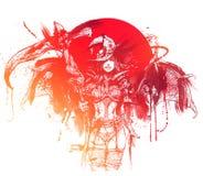Bloedheks met zeis vector illustratie