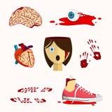Bloedig orgaan Stock Illustratie