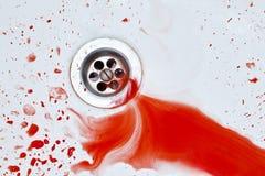 Bloedige gootsteenachtergrond Royalty-vrije Stock Afbeelding