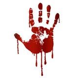 Bloedige handaf:drukken Stock Foto