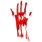 Bloedige handaf:drukken Royalty-vrije Stock Foto