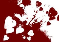Bloedige harten abstracte achtergrond royalty-vrije illustratie