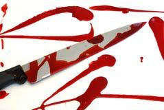 Bloedige Kinfe-Scène Stock Fotografie