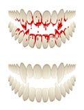 Bloedige tanden Stock Foto's