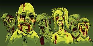 Bloedige Zombieën Stock Afbeelding