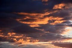 Bloedige zonsondergang Stock Foto
