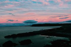 Bloedige zonsondergang Royalty-vrije Stock Afbeelding