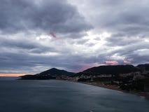 Bloedige zonsondergang royalty-vrije stock foto