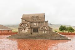 The Granite Jawbone Wagon at Bloedrivier blood river. BLOEDRIVIER, SOUTH AFRICA - MARCH 22, 2018: The Granite Jawbone Wagon at Bloedrivier blood river where the Stock Image