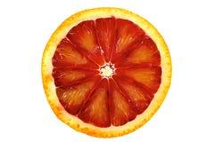 Bloedsinaasappel met plakken Stock Foto's