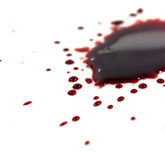 Bloedvlekken (vulklei) royalty-vrije stock afbeeldingen