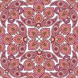Bloei betegeld patroon Abstract bloemen moslimornament Royalty-vrije Stock Afbeeldingen