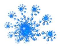 Bloei blauwe fractal en witte achtergrond vector illustratie
