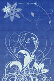 Bloei ornamenten met gevormde achtergrond Royalty-vrije Stock Foto