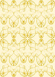 Bloei patroon in goud Royalty-vrije Stock Fotografie
