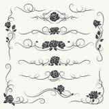 Bloei rozen decoratieve ornamenten stock illustratie