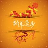 Bloeiende applique van CNY Stock Foto