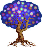 Bloeiende boom Stock Afbeelding