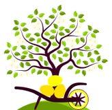 Bloeiende boom en paaseieren Royalty-vrije Stock Foto