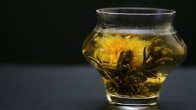 Bloeiende thee stock video