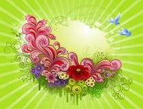 Bloeiende tuin vector illustratie