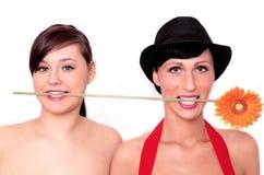 Bloem 2 vrouwen Royalty-vrije Stock Foto's