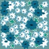Bloem blauwe en witte bloem als achtergrond Stock Foto