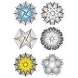 bloem 3d meetkunde van aard Royalty-vrije Stock Afbeeldingen