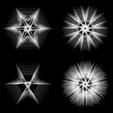 bloem 3d meetkunde van aard Royalty-vrije Stock Afbeelding