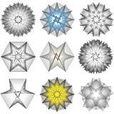 bloem 3d meetkunde van aard Royalty-vrije Stock Foto's