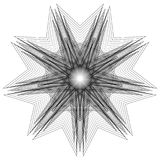 bloem 3d meetkunde van aard Stock Foto