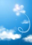 Bloem in de wolken Stock Afbeeldingen