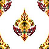 Bloem decoratief patroon Royalty-vrije Stock Foto