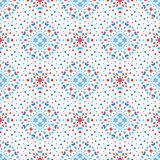 Bloem Dot Pattern Blue Red Boho royalty-vrije illustratie