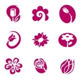 Bloem en bloemenelementen Royalty-vrije Stock Afbeeldingen