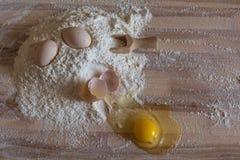 Bloem en eieren Stock Afbeelding