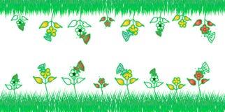 Bloem en groen ontwerp Stock Afbeelding