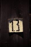 Bloem en houten raad Royalty-vrije Stock Foto