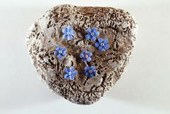Bloem en steen, zeven bloemen Royalty-vrije Stock Fotografie