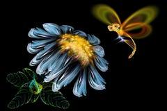 Bloem en vlinder Royalty-vrije Stock Fotografie